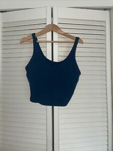 Lululemon Align Tank Size 6- Teal - Cropped Top