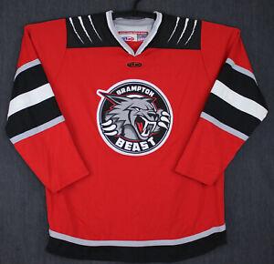 Brampton Beast Red Replica Hockey Jersey XL NWOT ECHL Defunct AK