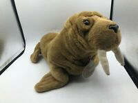 Russ Berrie Yomiko Classics Brown Walrus Seal Plush Kids Soft Stuffed Toy Animal