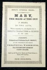 Toy Theatre - Original Playbook - G Skelt's MARY THE MAID OF THE INN