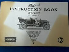 1909 Packard instruction book .suit 30b and packard 18