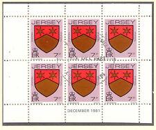 JERSEY 1981 December H-Blatt 7 P Wappen / Coat of Arms mit ESST VFU