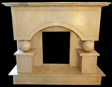 Fireplace Marble Yellow Silvia Gold Stone Handcarved Classic Design