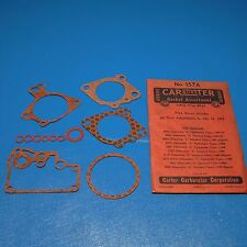 NOS Carter Carburetor Rebuild Gasket Kit 157A 1941-1950 Olds 6 Cyl.
