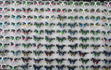Wholesale jewelry lots 8pcs butterfly adjustable color change mood rings