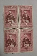 $0.03 Cents La Fayette 1757-1957 Stamps Plate Block of 4