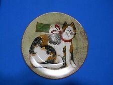 The Sakura Table Christmas Cats Fiddlestix Orange and White Cat Salad Plate