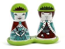 King & Queen Ceramic Salt and Pepper Shakers Set