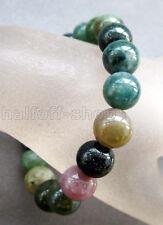 10mm Moss Agate Gem Tibet Buddhist Prayer Beads Mala Bracelet