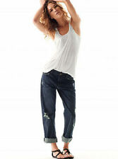 $198 ERIN WASSON X RVCA Gin Soaked Distressed Boyfriend Jeans Sz 25 madewell EUC