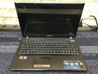 Laptop ASUS ONLY FOR PARTS X53U AMD E450 1.65Ghz Frame LCD Palm Rest Keyboard