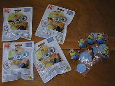 Lot of 4 MEGABLOKS Despicable Me Minion & Small Plastic Figurines Including Girl