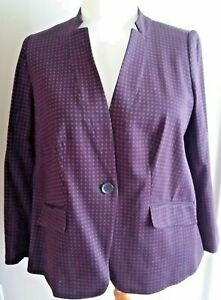 NEW WITH TAGS! TALBOTS Cotton Knit Blazer-Plus 16W-Navy/Deep Red