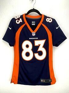 Nike Denver Broncos Jersey Welker #85 Women's Size S Blue Orange 478640 419