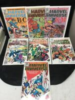 MARVEL UNIVERSE ORIGINAL 1982 Lot of 7 Issues Deluxe Editions Bagged/Boarded