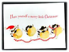 Vintage Valerie Pfeiffer Chickadee Birds Have Yourself Merry Christmas Card