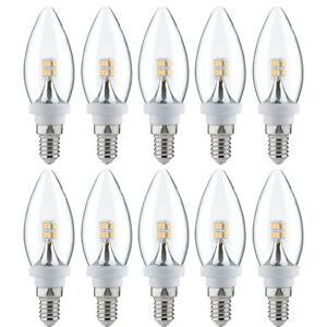10 x Paulmann LED Leuchtmittel Kerze 2,5W ~ 25W E14 klar warmweiß 2700K > UV 99€