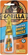 GORILLA SUPER GLUE 12g 2-in-1 Brush and Nozzle Superglue - Clear (PACK Of 6)