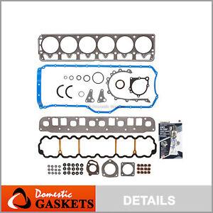 Fits 01-03 Jeep Grand Cherokee Wrangler TJ 4.0L OHV Full Gasket Set VIN S V