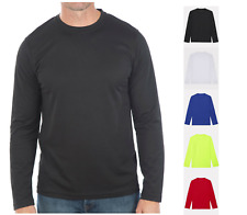 Mens Wicking T Shirt Breathable Long Sleeve Cool Top Running Training Base Layer
