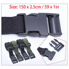 Men's Plastic Jack Buckle Nylon Canvas Tactical Waistband Webbing Military Belt
