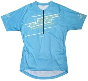 jt racing mens quarter zip cycling jersey bike riding sports wear blue size m