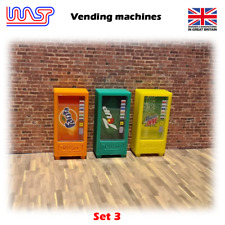 Slot Car Scenery Track Side Drinks Vending Set of 3 New 1:32 Scale WASP