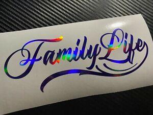 PURPLE OIL SLICK Family Life Car Sticker Decal JDM VAG Kids MPV Estate Wagon Bus