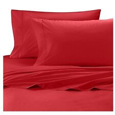 Wamsutta Cool Touch Percale 350 Thread Count Red Twin Flat Sheet