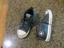 Converse Kids All Star Street MID Shoes Leather Black White youth 3 boys girls