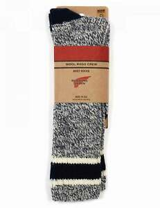 Red Wing 97330 Ragg Wool Stripe Socks - Slate/Navy