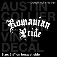 "6.5"" ROMANIAN PRIDE vinyl decal car window laptop sticker - romania native gift"