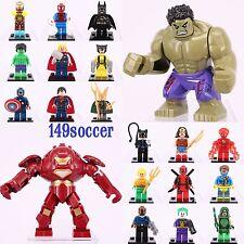 20pcs SET Hulk Iron man Batman Thor The Flash Super Hero Custom Lego MiniFigures