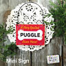 Wood Ornament Mini Sign * Very SPOILED PUGGLE Lives Here Gift USA DecoWords New