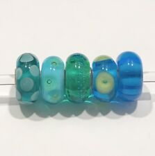 authentic trollbeads Set of 5 Glass Beads