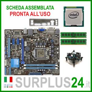 ASUS P8H61-M LE + CPU Intel i5-2400 + 4GB RAM | Kit Scheda Madre 1155 I/O #1884