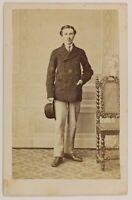 C.L.Leblanc Parigi Francia Foto CDV PL52n Vintage Albumina c1865
