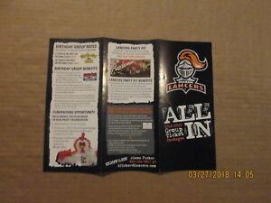 USHL Omaha Lancers Vintage Circa 2011-2012 Logo Hockey Season Ticket Brochure