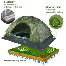 2-Person Instant Pop-Up Tent Camping Outdoor Family Hiking Shelter Waterproof
