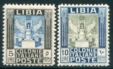 1937 Libia Pittorica 5 lire e 10 lire dent 11 centrati cert. Raybaudi MNH **