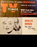 TV Guide 1962 Marilyn Monroe Regional TV Times NM/MT Tribute Joe DiMaggio COA