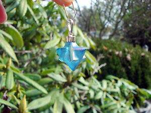 Merkaba-Star Of David-Double Tetrahedron Aqua Aura Quartz Pendant-Magical!