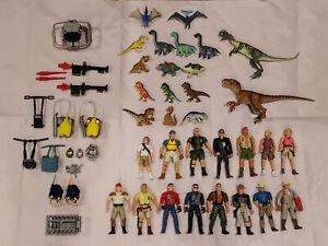Vintage Jurassic Park Action Figure Lot - 15 Figures + 2 Dinos + Accessories!