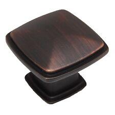 "CDK Oil Rubbed Bronze 1-1/4"" Square Cabinet Drawer Knob 0651-OBH 25+FREESHIP"