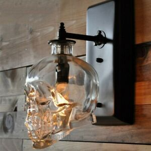 Retro glass Skull Wall Lamps Loft Corridor LED Wall lights Bar Club lighting