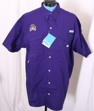 ECU East Carolina Pirates Columbia PFG Button Up Bonehead Fishing Shirt Men's L