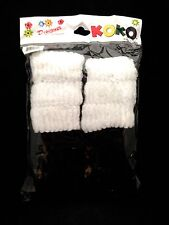 HAIR SCRUNCHIES BLACK & WHITE PONYTAIL HOLDER COMFORTABLE 12 SCRUNCHIES
