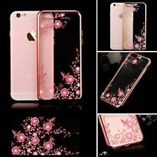 for iPhone 11 Pro Max XR X Samsung Slim Floral Flower Clear TPU Back Case Cover