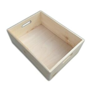 Wooden Serving Box or Tray 40 cm x 30 cm x 13 cm Decoupage