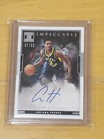 AARON HOLIDAY 2018/19 PANINI IMPECCABLE PACERS ROOKIE RC AUTO /99